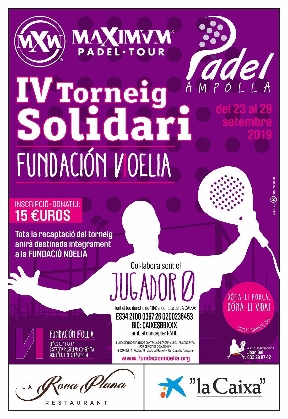 IV Torneo Solidario de Pádel Fundación Noelia